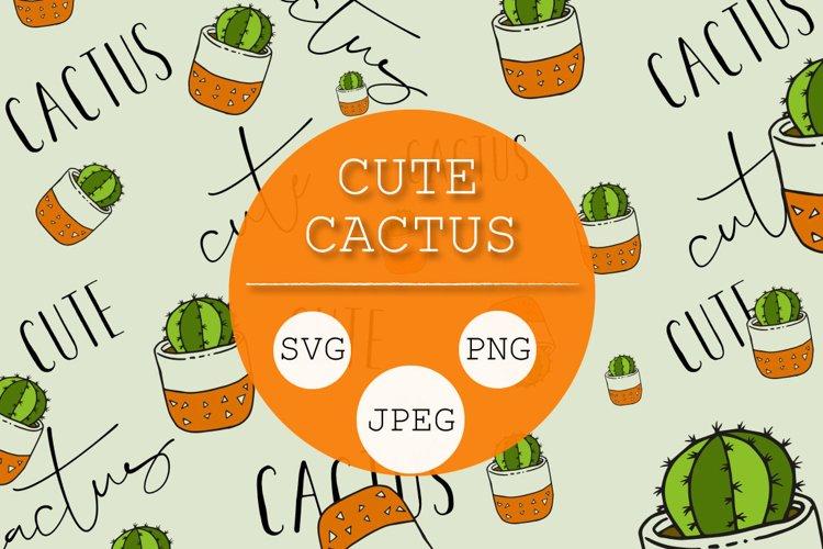 Cute Cactus Vector Clipart example