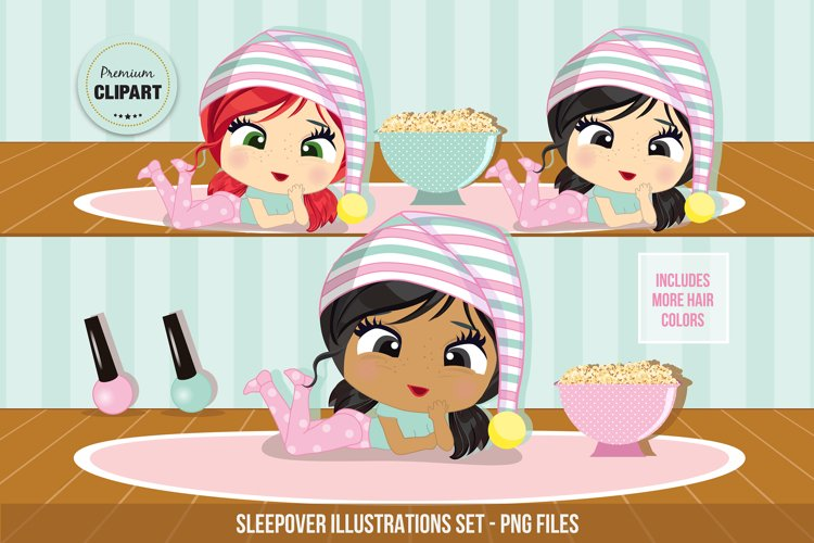 Sleepover clipart, Pyjamas clipart example image 1