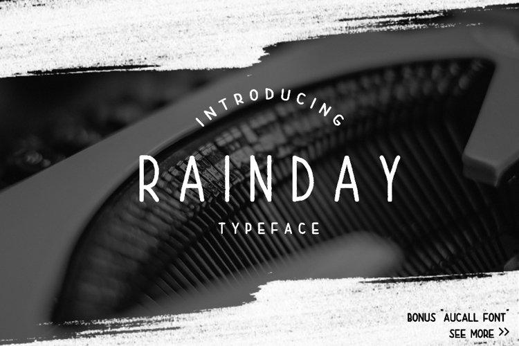 Rainday Typeface Font