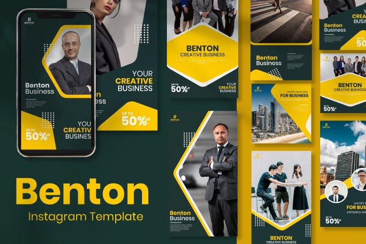 Benton Business Instagram Template example image 1