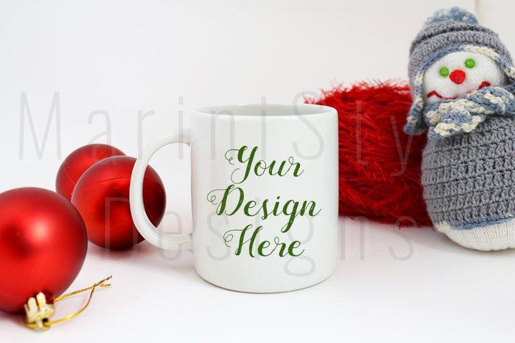 Christmas Mug mockup, Winter Coffee Mug Stock Photo 221