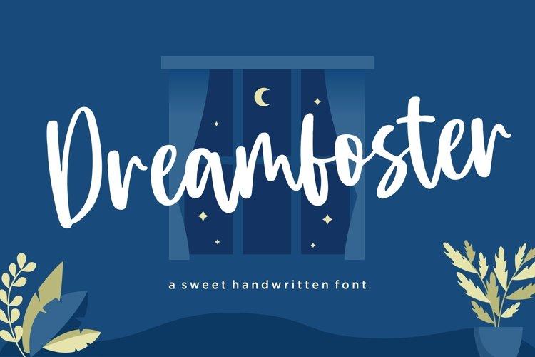 Dreamfoster Sweet Handwritten Font example image 1