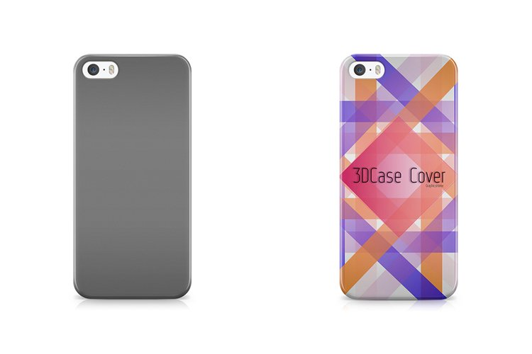 iphone 5-5s 3d case Mockup Back View example image 1