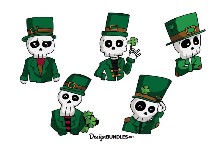 St Patrick Skull illustrations example image 1