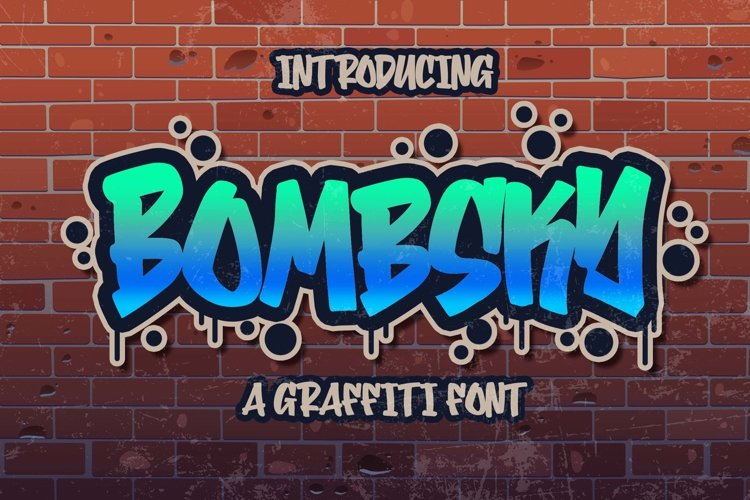 Bombsky Graffity Font example image 1