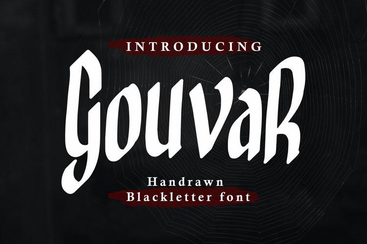 Gouvar - Handdrawn Blackletter Font example image 1
