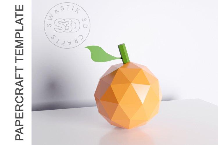 PDF Template of Orange fruit papercraft 3d Papercraft example image 1