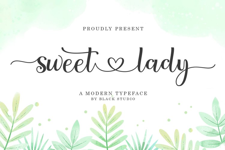 Sweet lady Script example image 1