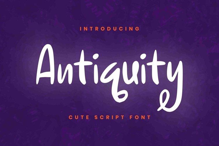 Web Font Antiquity Font example image 1
