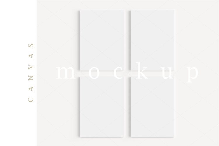A4 Canvas Mockup Display Simple Modern Painting Mockup/M153 example image 1