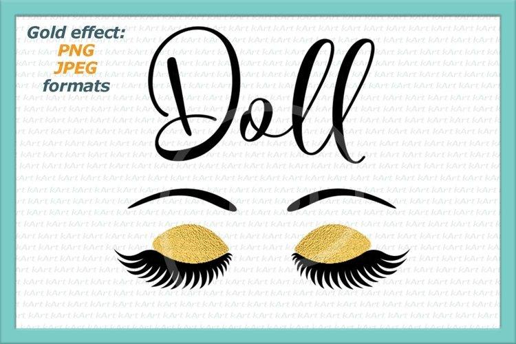 doll face eyelashes example image 1