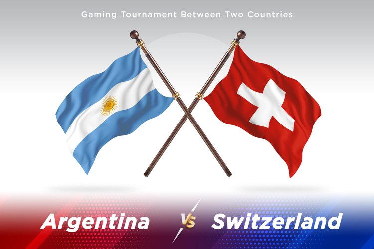 Argentina vs Switzerland Two Flags example image 1