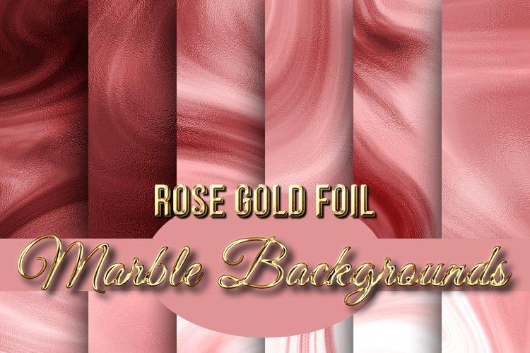 Rose Gold Foil Marble Backgrounds