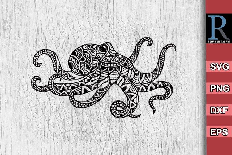Mandala Octopus SVG Cricut crafting, Zentangle Octopus SVG