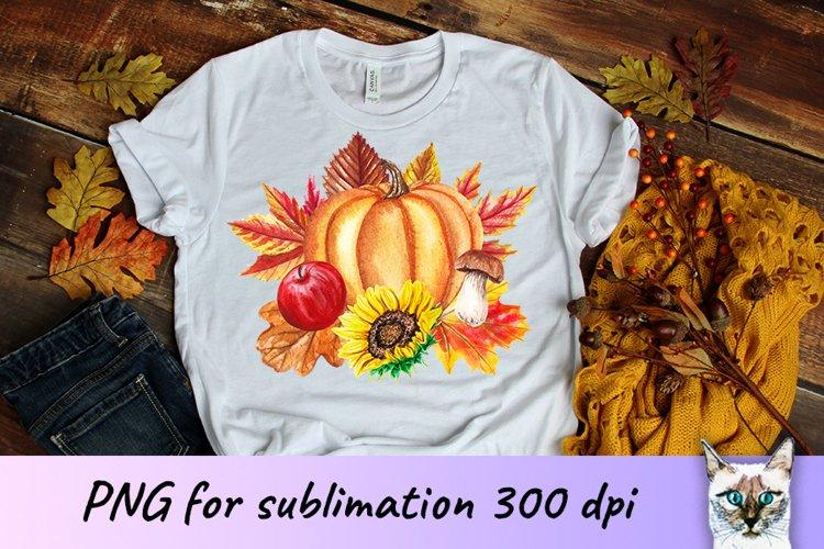 Pumpkin Fall Sublimation Design example image 1