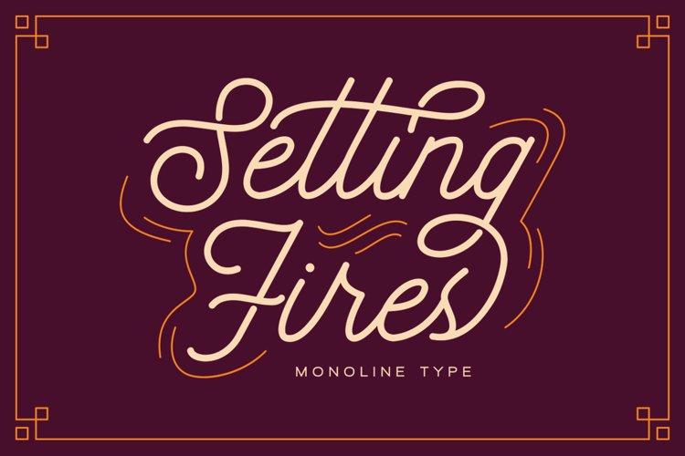 Seting Fires - Monoline Type example image 1