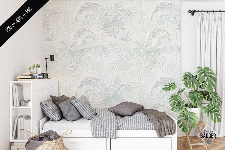 Wall mockup - Wallpaper mockup example image 1
