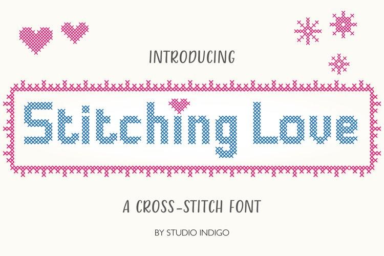 Stitching Love a cross-stitch font