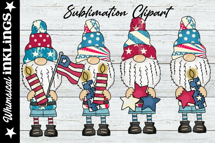 Norman The Gnome Loves America Sublimation Clipart