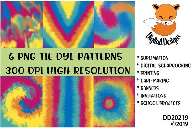 Tie Dye Patterns Digital Paper Pack