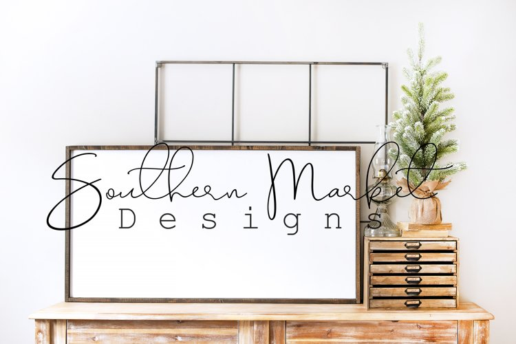 Christmas 24x48 Wood Sign Mock Up Styled Photography example image 1