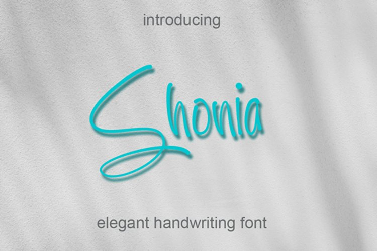 Shonia - Handwritten Font with alternate example image 1