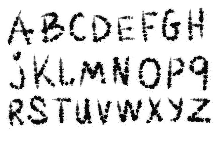 Blotch vector font. example image 1