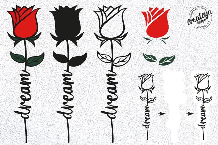 Dream SVG, Rose SVG, Flower SVG, Flower laser example 3