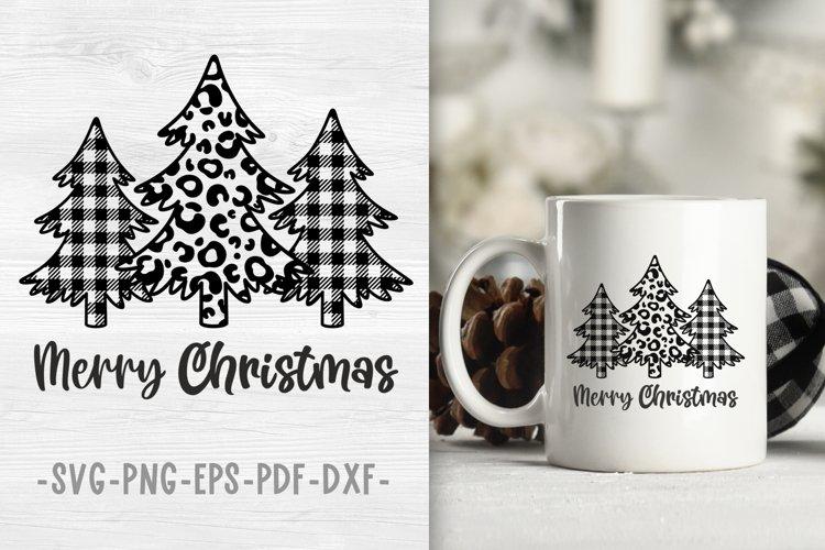 Buffalo plaid christmas tree svg Christmas designs Leopard example image 1