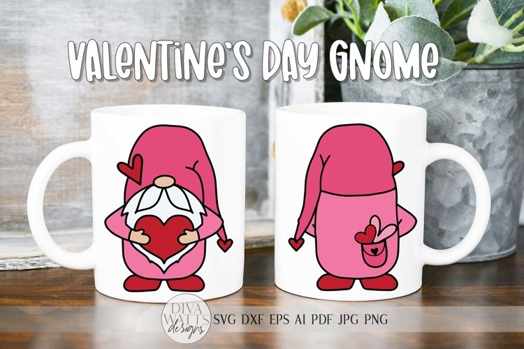 Valentines Day Double Sided Gnome SVG Glowforge Ready File