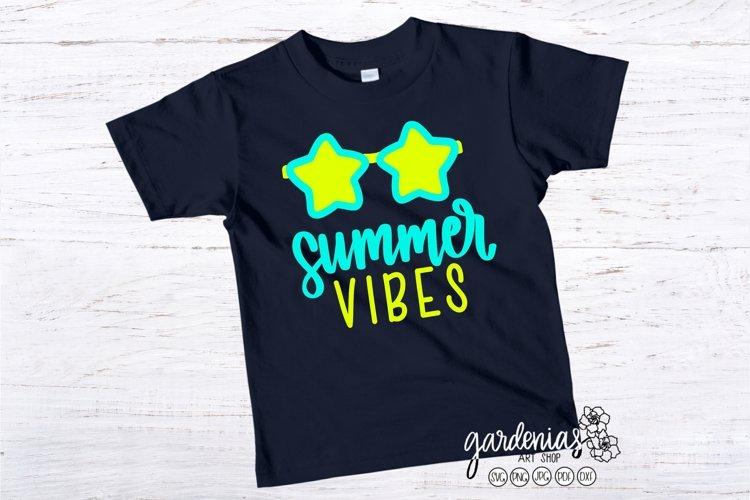 Summer Vibes Star Sunglasses SVG | Kids Cut File | Children