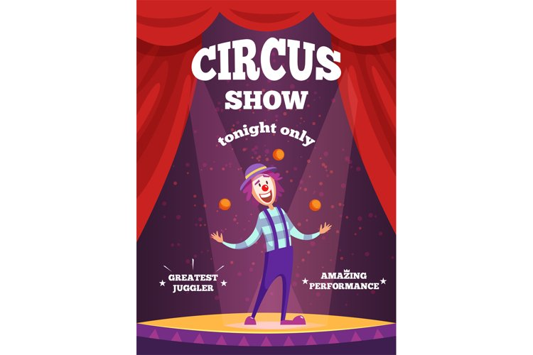 Invitation poster for circus show or magicians performance. example image 1