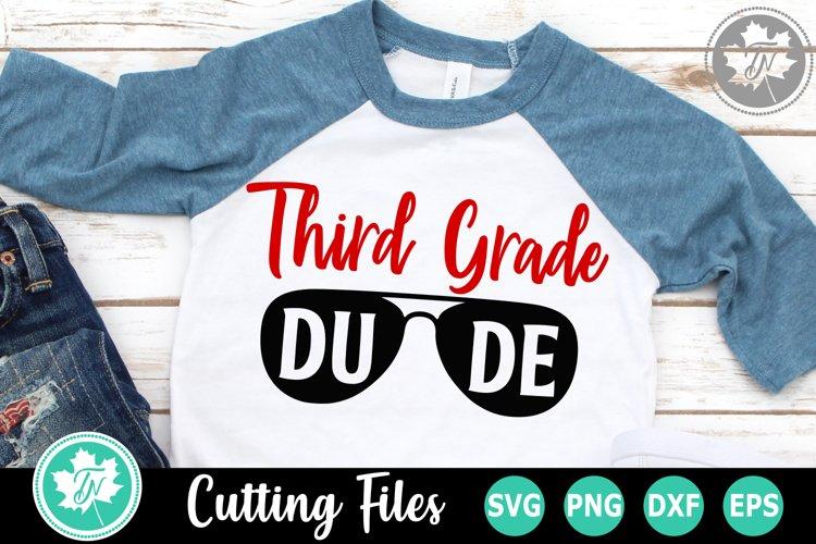 Third Grade Dude - A School SVG Cut File example image 1