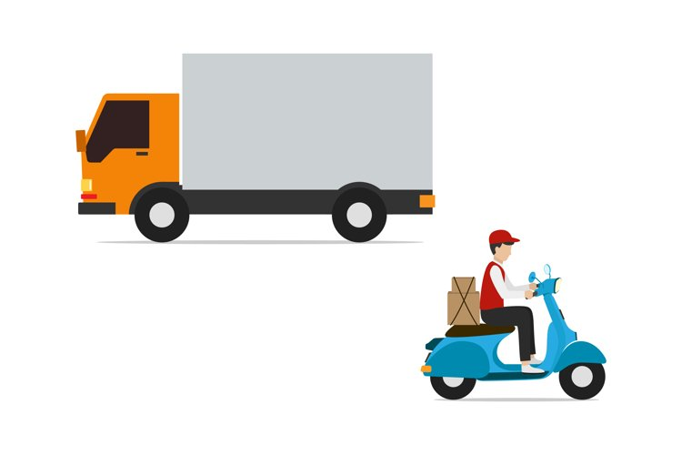 courier delivery vector illustration example image 1