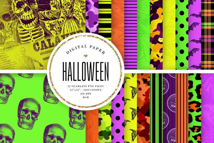 Seamless Halloween Patterns - Bright Halloween Digital Paper