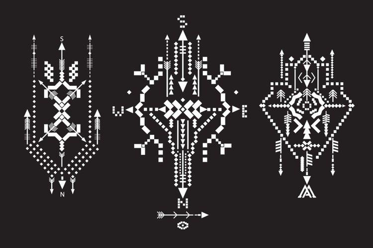 Boho totem. Sacred geometry example 2