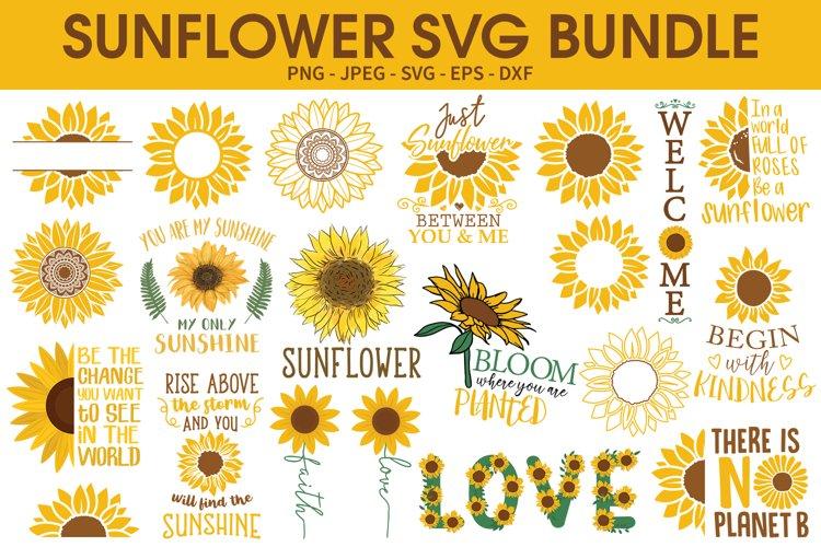 Sunflower SVG Bundle, Sunflower Sublimation