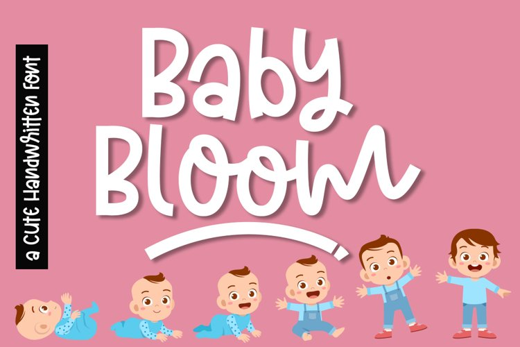 Baby Bloom a Cute Quirky Handwritten Font example image 1