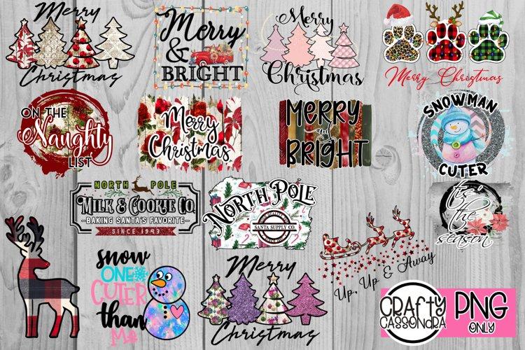 Christmas sublimation bundle. Printable holiday images example image 1