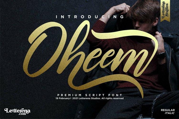 Oheem - Premium Script Font example image 1