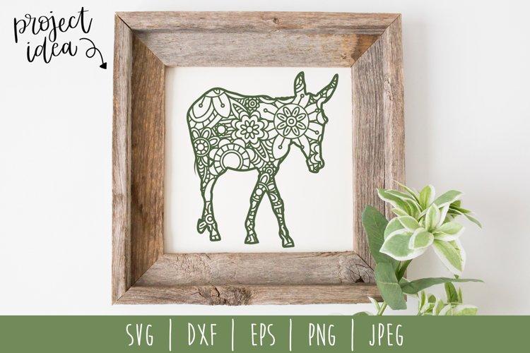 Donkey Mandala Zentangle SVG, DXF, EPS, PNG, JPEG example image 1