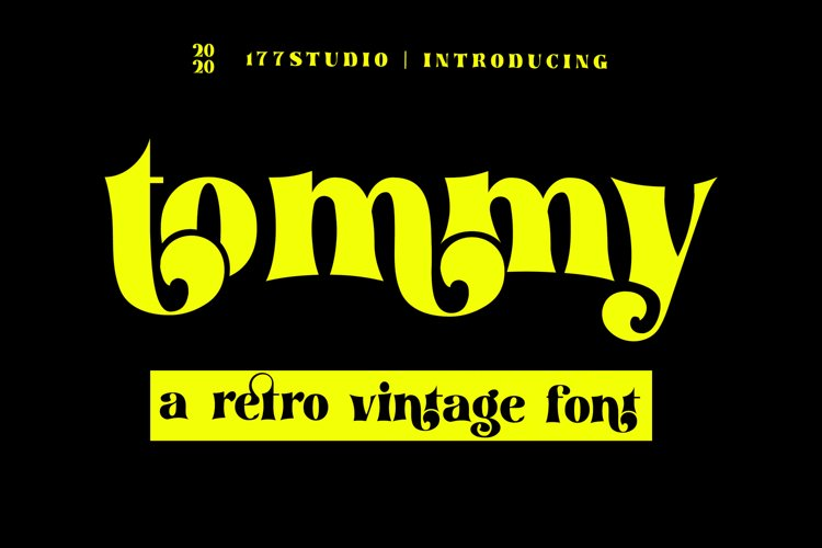 tommy - Retro Serif Font example image 1