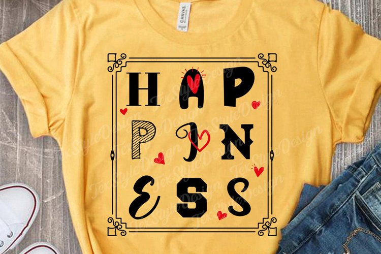 Happiness - Motivational Saying - Positive SVG DXF EPS PNG