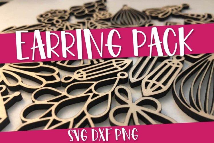 Earring SVG Bundle Pack - 12 Hand Drawn Earrings