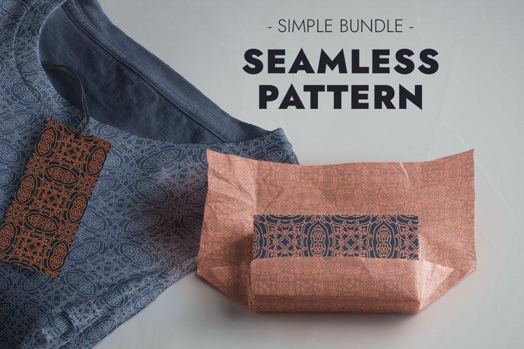 Seamless Pattern - Elegant Retro Ornament in JPG EPS