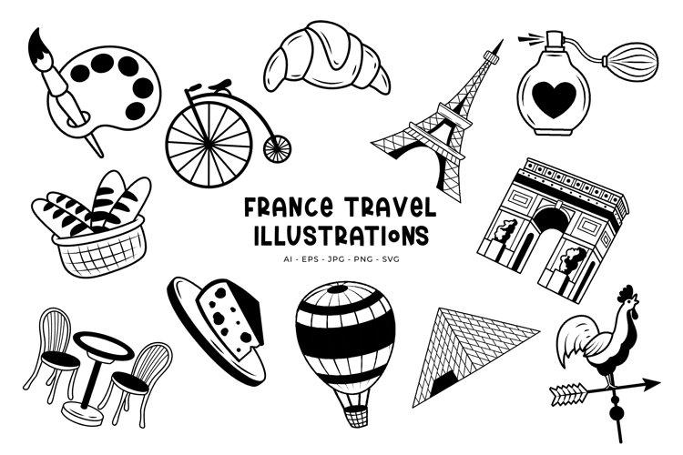 France Travel illustrations