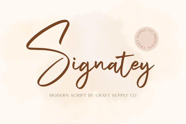 Signatey - Modern Script Font example image 1