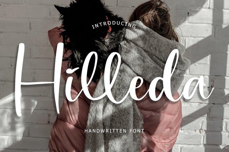 Hilleda Handwritten Font example image 1