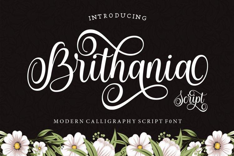 Brithania Script example image 1