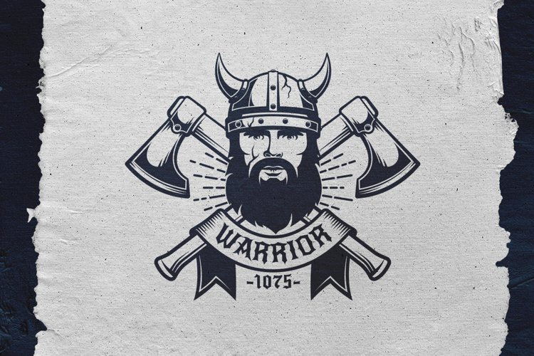 Viking Warrior Logo Template example image 1